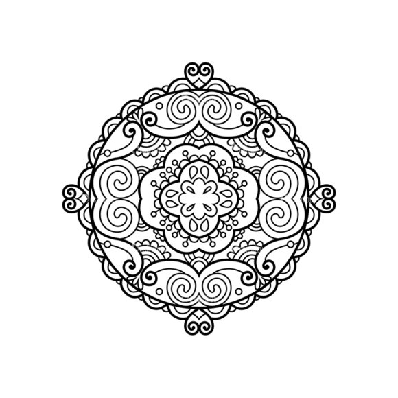 Doily Final 02 Clip Art - SVG & PNG vector