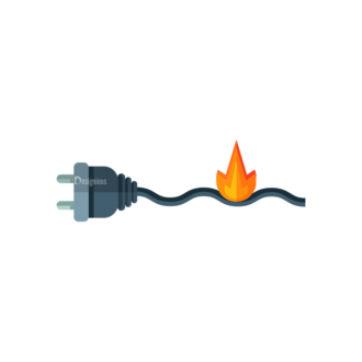 Electricity Plug Fire Clip Art - SVG & PNG vector