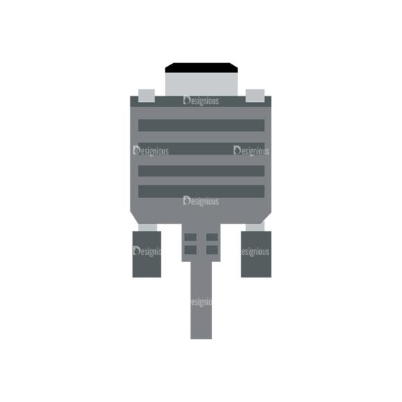 Electronic Jacks Plugs Dvi Connector Clip Art - SVG & PNG vector