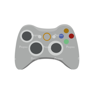 Game Controllers 04 Clip Art - SVG & PNG vector