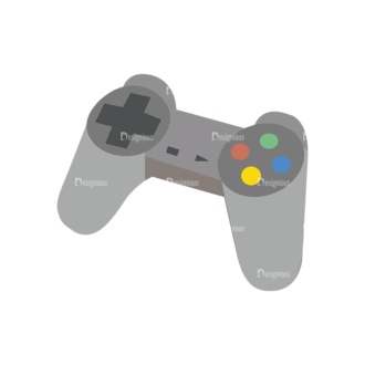 Game Controllers 05 Clip Art - SVG & PNG vector