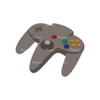 Game Controllers 09 Clip Art - SVG & PNG vector
