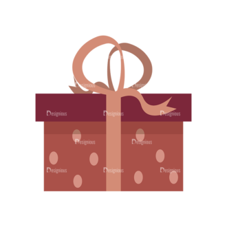 Gifts 1 Box 01 Clip Art - SVG & PNG vector