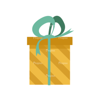 Gifts 1 Box 02 Clip Art - SVG & PNG vector