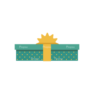 Gifts 1 Box 07 Clip Art - SVG & PNG vector