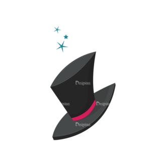 Magic Magician Hat Clip Art - SVG & PNG vector