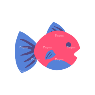 Pirate Set Fish 09 Preview Clip Art - SVG & PNG vector
