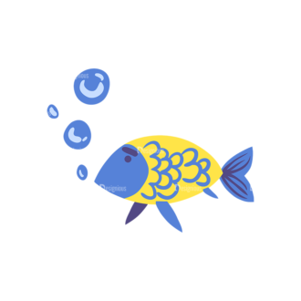 Pirate Set Fish 10 Preview Clip Art - SVG & PNG vector