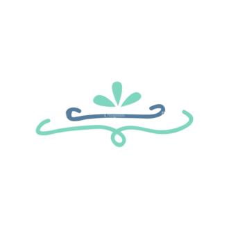 Ribbons Swirl Header 08 Clip Art - SVG & PNG vector
