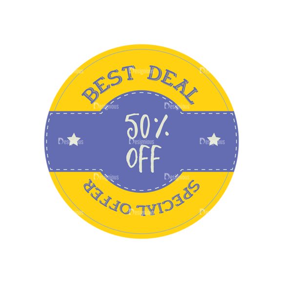 Simple Badges Best Deal Clip Art - SVG & PNG vector
