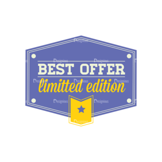 Simple Badges Best Offer Clip Art - SVG & PNG vector