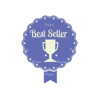 Simple Badges Best Seller Clip Art - SVG & PNG vector