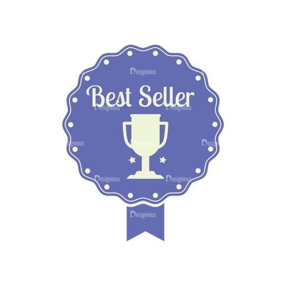 Simple Badges Best Seller Clip Art - SVG & PNG vector