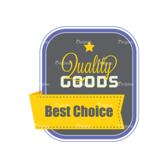 Simple Badges Qulaity Goods Clip Art - SVG & PNG vector