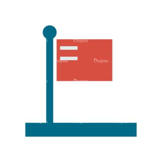 Space Icon Set Landing Flag Clip Art - SVG & PNG vector