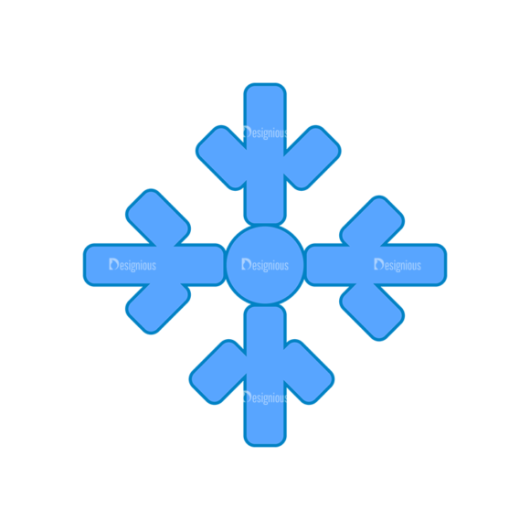 Weather Icon Set Snowflake Clip Art - SVG & PNG vector