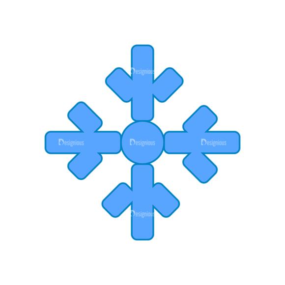 Weather Icon Set Snowflake 5