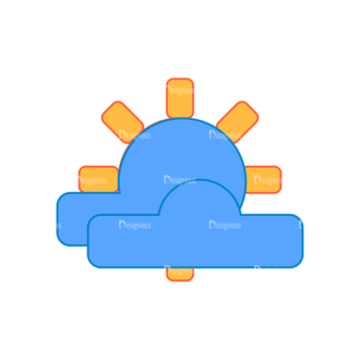 Weather Icon Set Sunny Clip Art - SVG & PNG vector