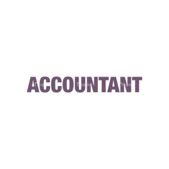 Accountant Vector Professions Clip Art - SVG & PNG vector