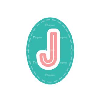 Alphabet Vector Set 1 Vector J Clip Art - SVG & PNG vector