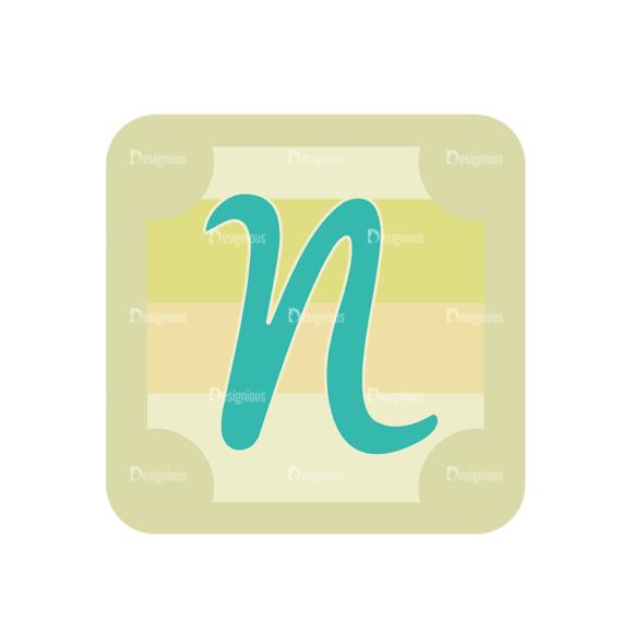 Alphabet Vector Set 1 Vector N Clip Art - SVG & PNG vector
