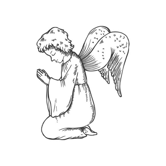 Angels Vector 1 4 Clip Art - SVG & PNG vector