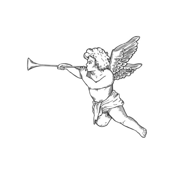 Angels Vector 1 9 Clip Art - SVG & PNG vector