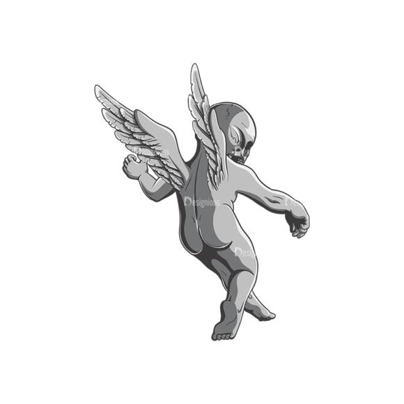 Angels Vector 3 4 Clip Art - SVG & PNG vector