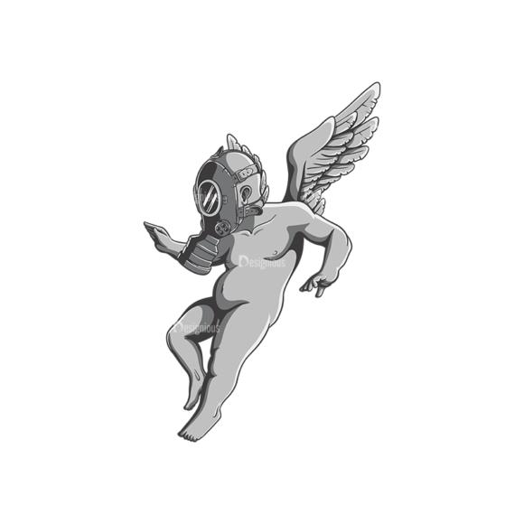 Angels Vector 3 6 Clip Art - SVG & PNG vector