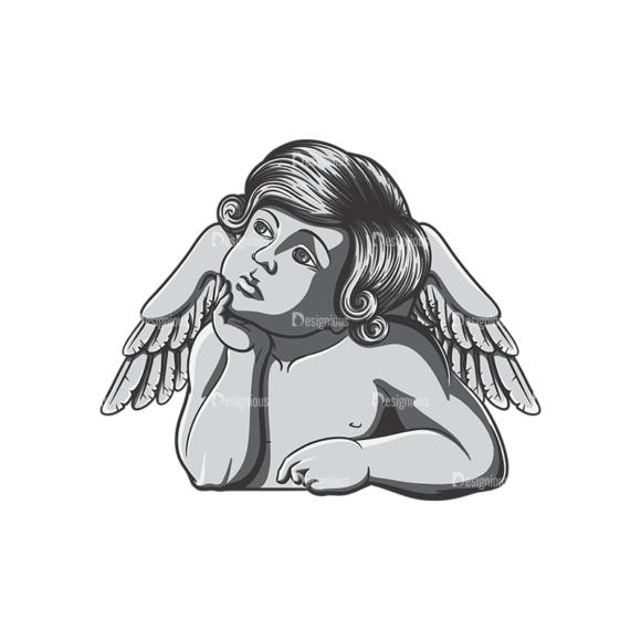 Angels Vector 4 6 Clip Art - SVG & PNG vector