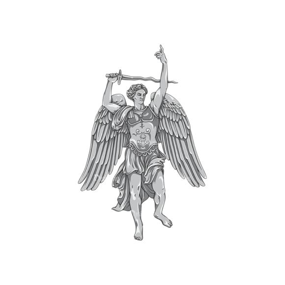 Archangel Vector 1 1 Clip Art - SVG & PNG vector