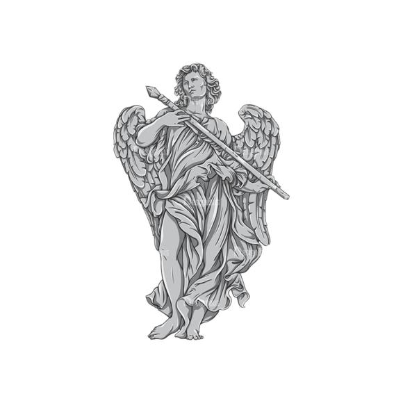 Archangel Vector 1 5 Clip Art - SVG & PNG vector