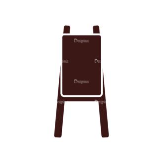 Art Vector Elements Set 1 Vector Easel Stand Clip Art - SVG & PNG vector