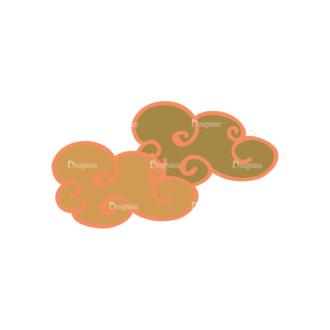 Artist Doodle Vector Set 2 Vector Clouds 09 Clip Art - SVG & PNG vector