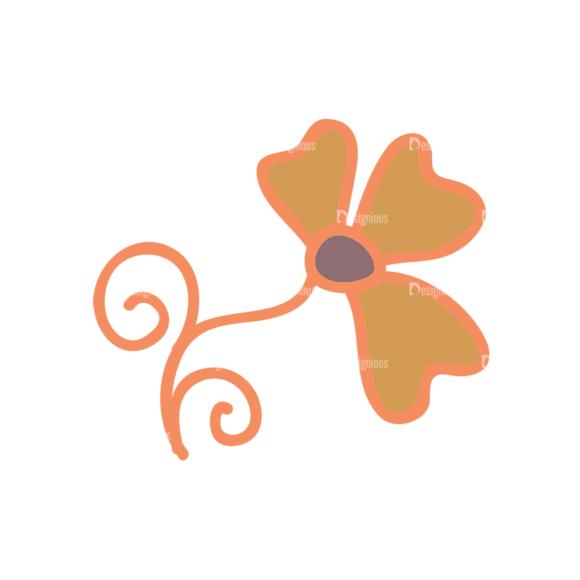 Artist Doodle Vector Set 2 Vector Flower 01 Clip Art - SVG & PNG vector