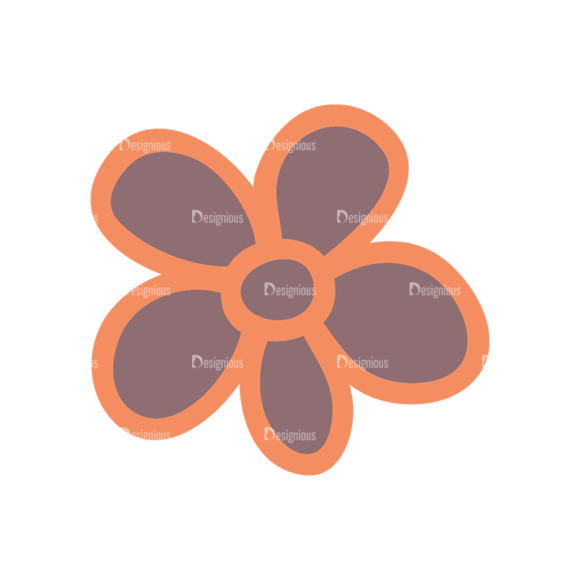 Artist Doodle Vector Set 2 Vector Flower 10 Clip Art - SVG & PNG vector