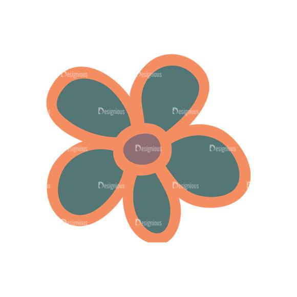 Artist Doodle Vector Set 2 Vector Flower 43 Clip Art - SVG & PNG vector