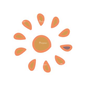 Artist Doodle Vector Set 2 Vector Sun 23 Clip Art - SVG & PNG vector