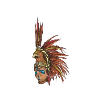 Aztec Warriors Pack 1 2 Preview Clip Art - SVG & PNG vector
