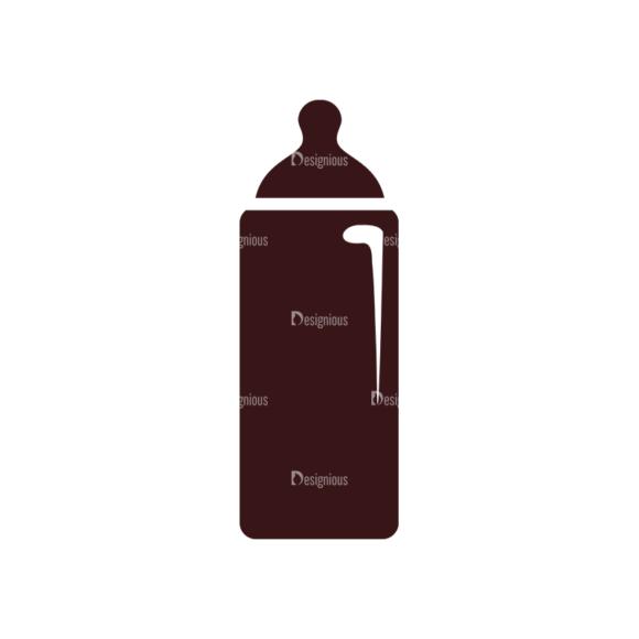 Baby Vector Elements Set 1 Vector Bottle 08 Clip Art - SVG & PNG vector