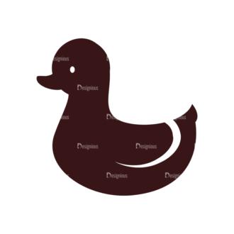 Baby Vector Elements Set 1 Vector Duck 03 Clip Art - SVG & PNG vector