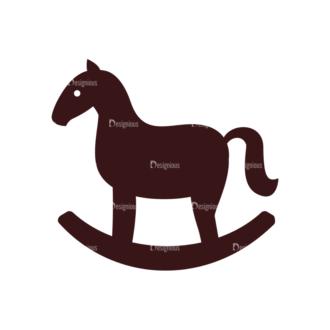 Baby Vector Elements Set 1 Vector Horse Clip Art - SVG & PNG vector