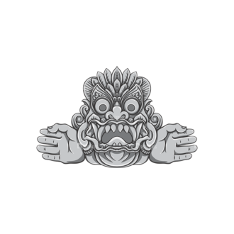 Bali Demons Vector 1 6 Clip Art - SVG & PNG vector