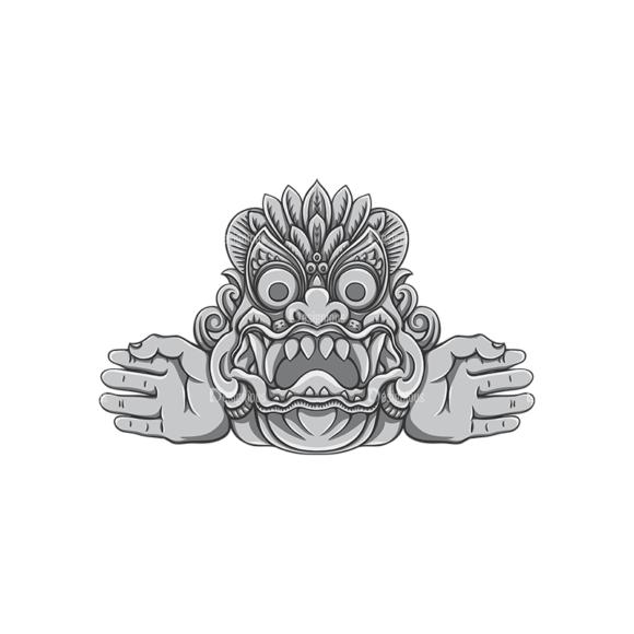Bali Demons Vector 1 6 Clip Art - SVG & PNG vector