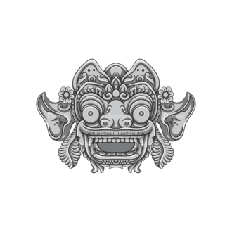 Bali Demons Vector 1 7 Clip Art - SVG & PNG vector