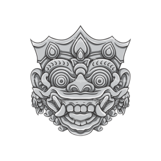 Bali Demons Vector 1 9 Clip Art - SVG & PNG vector
