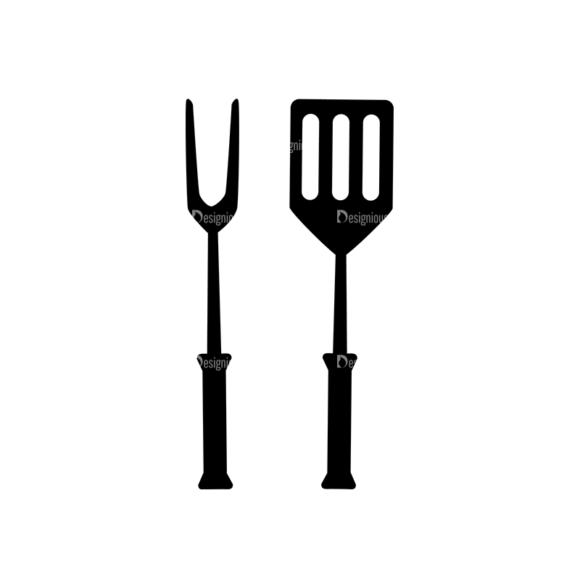 Bbq Grill Vector Elements Vector Grill Tools 04 Clip Art - SVG & PNG vector