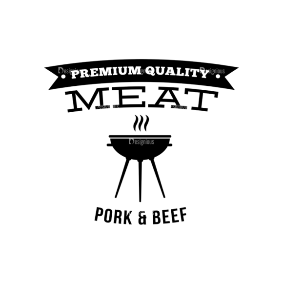 Bbq Grill Vector Elements Vector Logo 11 5