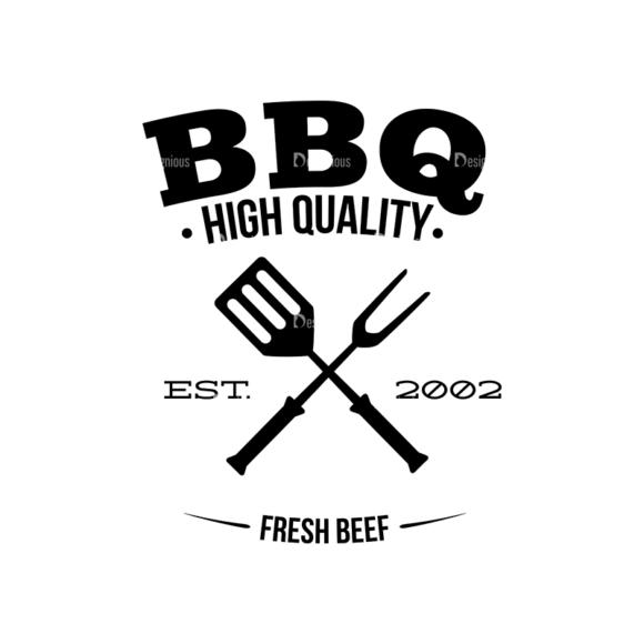 Bbq Grill Vector Elements Vector Logo 13 Clip Art - SVG & PNG vector