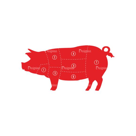 Bbq Vector Set 2 Vector Pig Clip Art - SVG & PNG vector